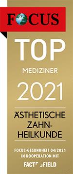 Focus Mediziner-Siegel Aesthetische-Zahnheilkunde 2021
