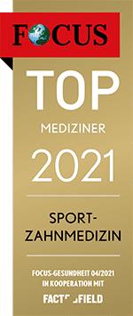 Focus Mediziner-Siegel Sport-Zahnmedizin 2021